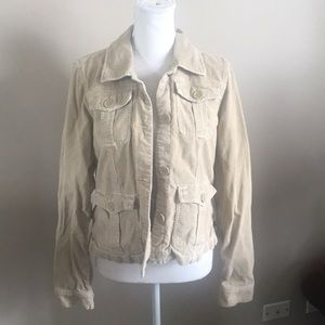 Abercrombie and Fitch tan corduroy jacket
